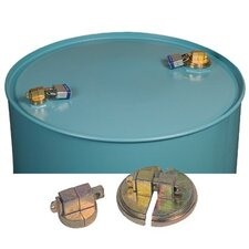 "Justrite - Drum Locks Drum Locks F/ 55 Gal Steel Drum W/Locks 2"" Npt: 400-08510 - drum locks f/ 55 gal steel drum w/locks 2"" npt"