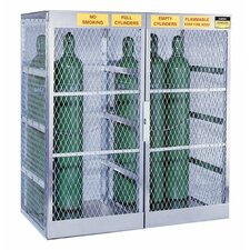 Justrite - Aluminum Cylinder Lockers 4 Cylinder Vertical Storage Locker: 400-23009 - 4 cylinder vertical storage locker