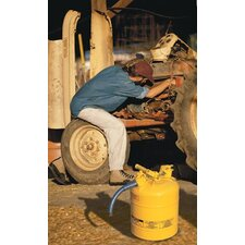 "Type ll Safety Cans for Flammables - 5 gallon yellow safety can type ii 1"" hose"