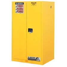 Yellow Safety Cabinets for Flammables - 60 gal cab sc w/pdl hndl
