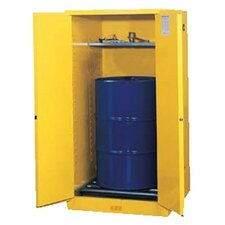 Yellow Vertical Drum Safety Cabinets - 55g cab sc yl flam vdrmex