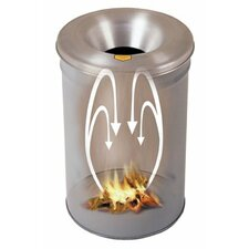 Cease-Fire® Waste Receptacles - gray 15 gallon drum cease fire waste receptacle