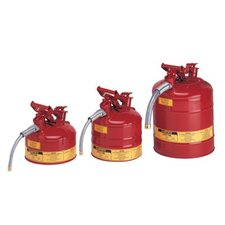 "Type ll Safety Cans for Flammables - 2gal safety can w/5/8"" hose"