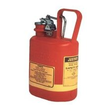 Gallon Red Type I Oval Polyethylene Safety Can For Flammables With Stainless Steel Hardware