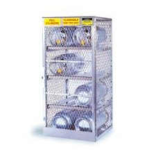 "1/2"" X 30"" X 32"" 6 Cylinder Horizontal Storage Locker For Flammables"