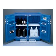 "X 36"" X 23 1/2"" Blue Polyethylene Under Counter Storage Cabinet For Acids With 2 Doors (Capacity 30 Each 1 Liter Bottles)"
