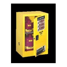 "X 23 1/4"" X 18"" Yellow 12 Gallon Compac Sure-Grip® EX Safety Cabinet With 1 Manual Door And 1 Shelf"