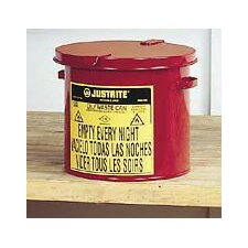 Gallon Red Oily Waste Countertop Can