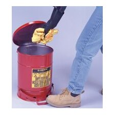Gallon Red Oily Waste Can With Foot Lever Opening Device