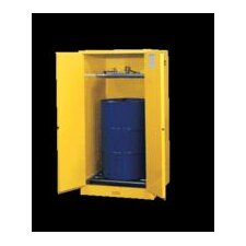 "X 34"" X 34"" Yellow 55 Gallon Sure-Grip® EX Safety Cabinet For 1 Vertical Drum With 2 Self-Closing Doors And 1 Shelf"