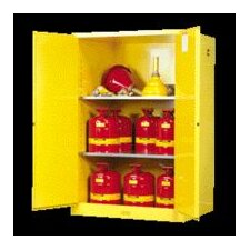 "X 43"" X 18"" Yellow 30 Gallon Sure-Grip® EX Safety Cabinet For Flammables With 2 Self-Closing Doors And 1 Shelf"