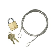Justrite - Elite Smokers Cease-Fire Optional Accessories Anchoring Cable Kit W/Padlock: 400-268505 - anchoring cable kit