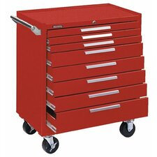 Industrial Series Roller Cabinets - 10164 roller cabinet 8 drawer smooth red