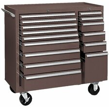 <strong>Kennedy</strong> Maintenance Carts - 64314 maint cart 15 drawer b.b slides brown
