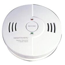 Combination Carbon Monoxide & Smoke Alarm - smoke and carbon combination detector 3aa batter