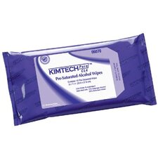 Kimtech Pure® CL4 Pre-Saturated Wipers - kimtech premoistend whtwipes 40/pouch