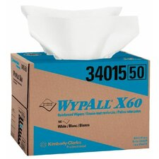 "WypAll® X60 Wipers - 12""x16"" white ball terrywipe 180 per box"