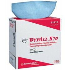 WypAll® X70 Workhorse® Rags - wypall x70 workhorse rags blue 10/100