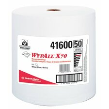 "WypAll® X70 Workhorse® Rags - 12""x13.4"" white jumbo rag-on-a-roll 1-ply 870/r"