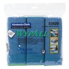WypAll® Microfiber Cloths - c- wypall microfiber cloblue 6wps/bg