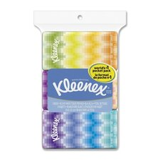 Kleenex Pocket Facial Tissue - 15 Sheets per Bag / 36 Bags per Carton