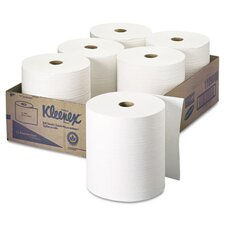 Professional Kleenex Hard Roll 1-Ply Paper Towels - 6 Rolls per Carton