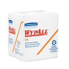 <strong>Kimberly-Clark</strong> Wypall L40 Wipers Quarter Fold, 56/Pack in White