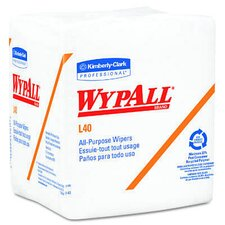 <strong>Kimberly-Clark</strong> Wypall L40 Wipers quarter fold in White