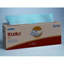 Wypall L40 Wipers, Pop-Up Box, 100/Box in Blue