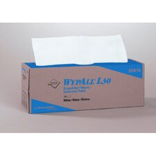 Wypall L30 Wipers, Pop-Up Box, 120/Box in White