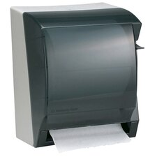 "12"" In-Sight Lev-R-Matic Roll Towel Dispenser in Smoke / Gray"
