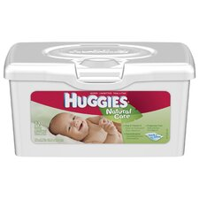 Huggies Natural Care Baby Wipes, Aloe and Vitamin E, Unscented in White