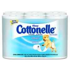 <strong>Kimberly-Clark</strong> Kleenex Cottonelle Ultra Soft Bath Tissues in White
