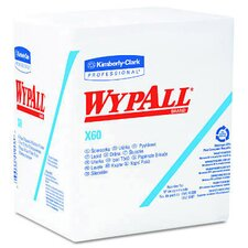 Wypall X60 Wipers Quarter Fold, 76/Pack in White