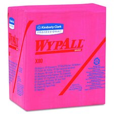 Wypall X80 Wipers quarter fold in Red