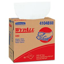 Wypall X80 Wipers Pop-Up Box in White