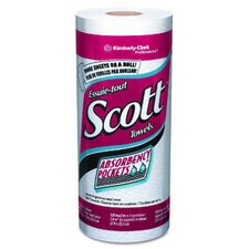 Scott Perforated Kitchen 1-Ply Paper Towels - 128 Sheets per Roll