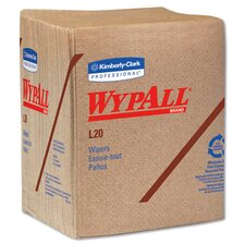 Wypall L20 Wipers quarter fold in Brown