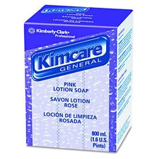 Kimcare General Lotion Soap, Peach, 800ml Bag in Box Refill in Pink