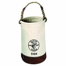Leather Bottom Canvas Bucket