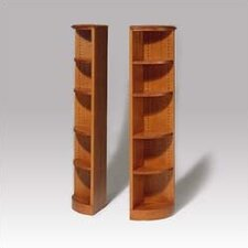 "200 Signature Series 60"" H Five Shelf Quarter Round Bookcase"
