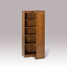 "200 Signature Series 60"" H Five Shelf Inside Corner Bookcase"