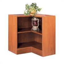 "1100 NY Series 30"" H Two Shelf Inside Corner Bookcase"