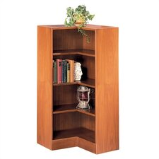 "1100 NY Series 48"" H Four Shelf Inside Corner Bookcase"