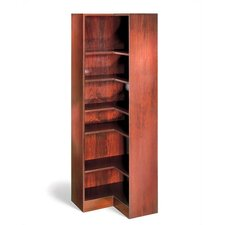 "1100 NY Series 72"" H Six Shelf Inside Corner Bookcase"