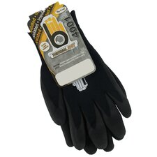 Medium Black Double Lined Thermal Knit Gloves C4001BKM