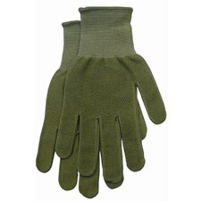 Small Green Women's Dotted Bamboo Knit Gloves G118TS