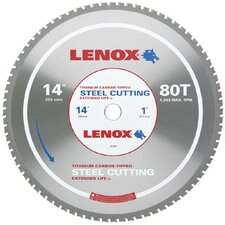 "Metal Cutting Circular Saw Blades - 14"" 80t steel metal cutting saw blade"