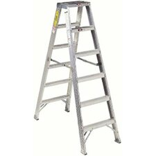 AM1000 Series Master Aluminum Twin Front Step Ladders - 10'double step ladderaluminum