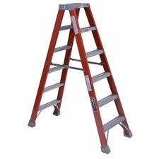 <strong>Louisville Ladder</strong> FM1500 Series Fiberglass Twin Front Ladders - 6' fiberglass twin stepladder type 1a